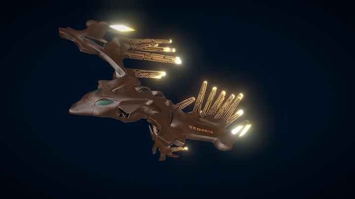 Steel Phoenix | Sci-Fi Low-poly 3D Model