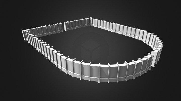 AoT Distrikt Trost Mauer 3D Model