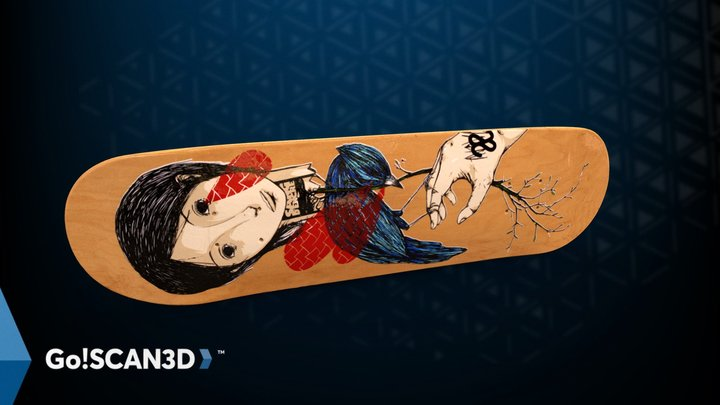 Avive Skateboard - Go!SCAN SPARK 3D Model
