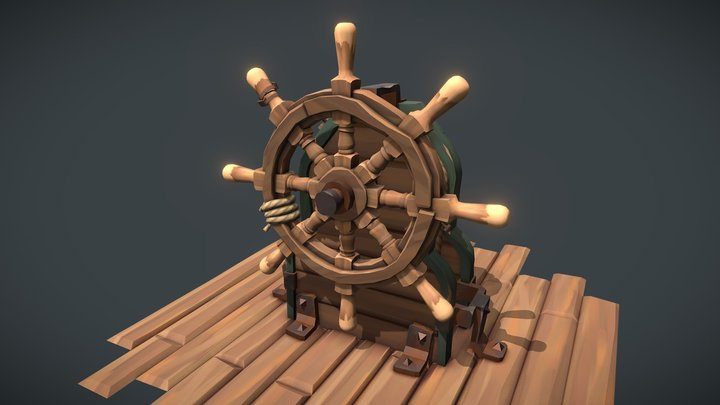 The Ship's Wheel [ Blazing Sails ] 3D Model