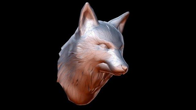 Fox Bust - Low poly 3D Model