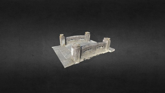 StoneBridge at Japanese shrine 3D Model
