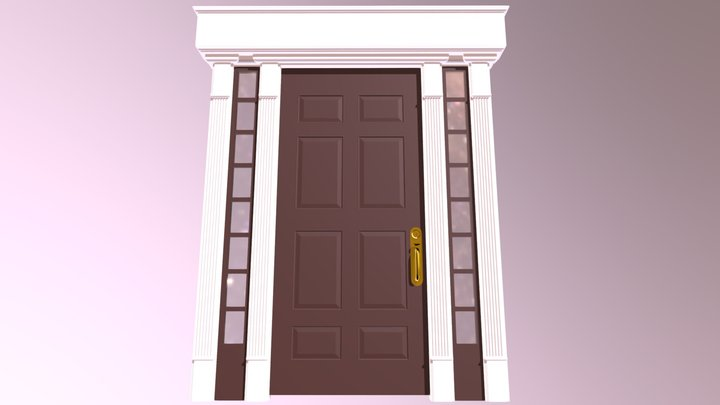 Embellished front door 1 3D Model