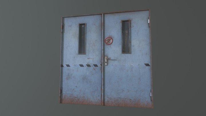 Double Door Metal 3D Model