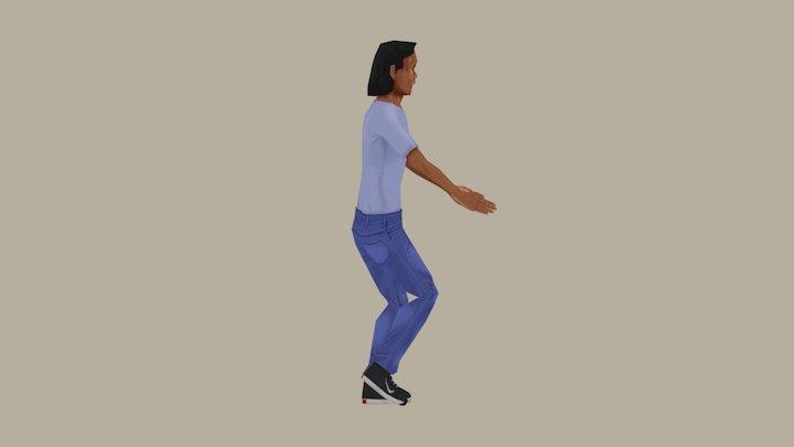 Mr. Maguinho Salsa Dancing 3D Model
