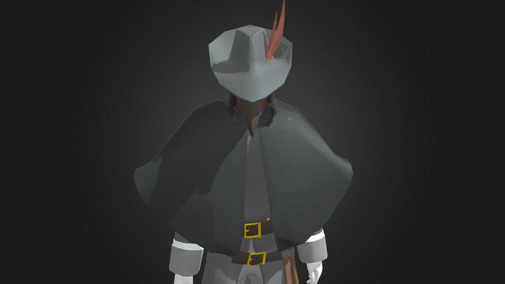 Good plague doctor (remade) 3D Model