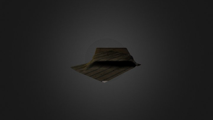 Dirty materess and bed sheet 3D Model
