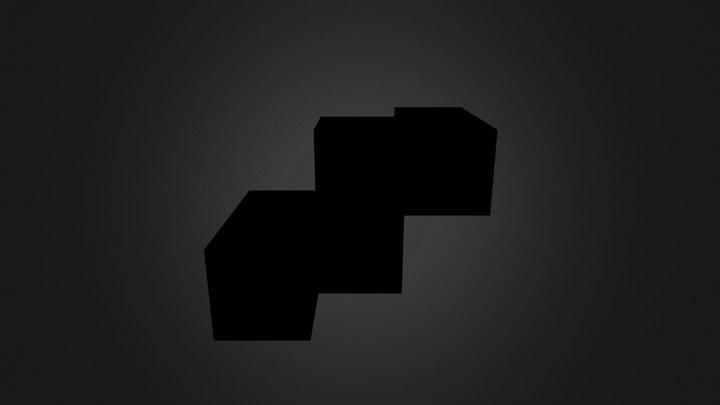 Black Puzzle Cube Part 3D Model