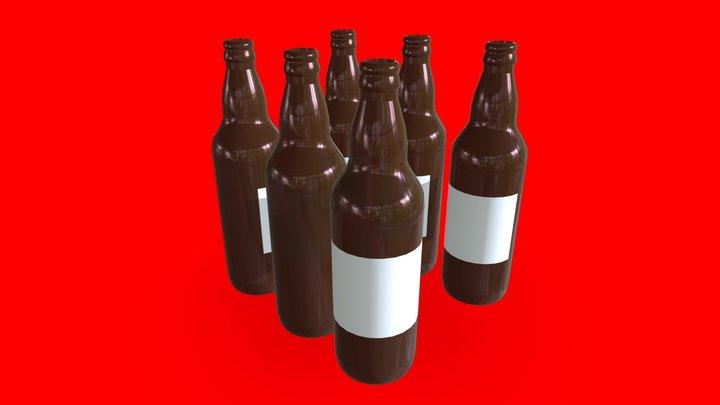 Beer bottles - Botellas de cerveza 3D Model