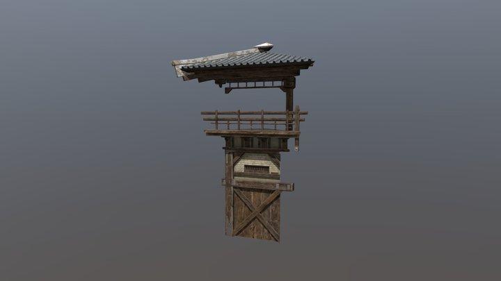 Korean tower segment 3D Model