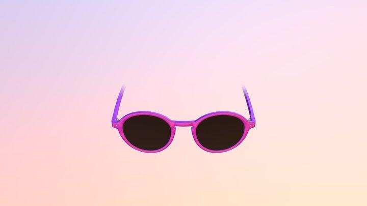 Purple Sunglasses - AR Face Filter 3D Model