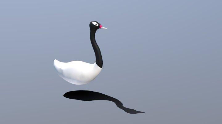 Cisne Cuello Negro 3D Model