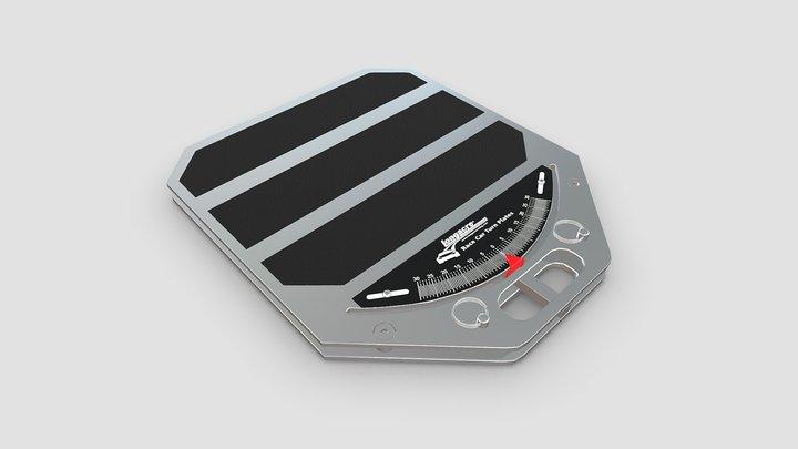 Aluminum Race Car Turn Plate 3D Model