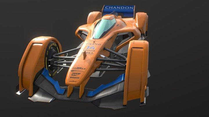 McLaren-Renault X2 3D Model