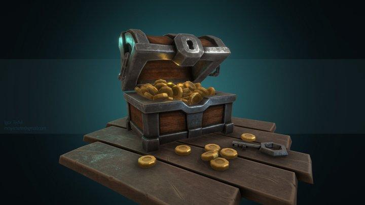 Treasure chest 3D Model