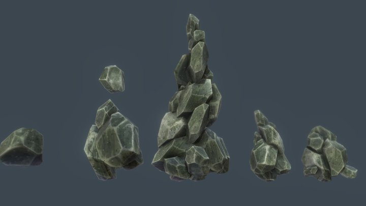 How to Modelling Low Poly Game Asset Rock 3D Model