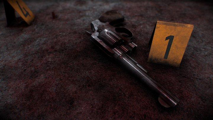[PBR] CRIME SCENE (COLT M1917 S&W REVOLVER) 3D Model