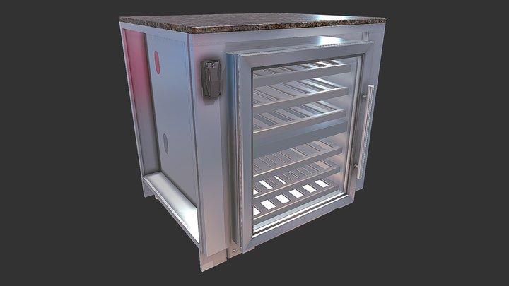 "34"" Appliance Cabinet up to 25"" wide Fridge 3D Model"