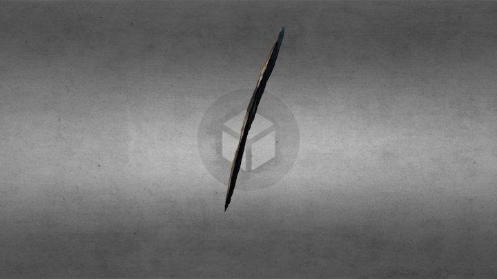 339-7-11: Chert Knife 3D Model