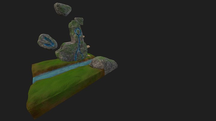 Milestone 3: Floating Rocks Textured 3D Model