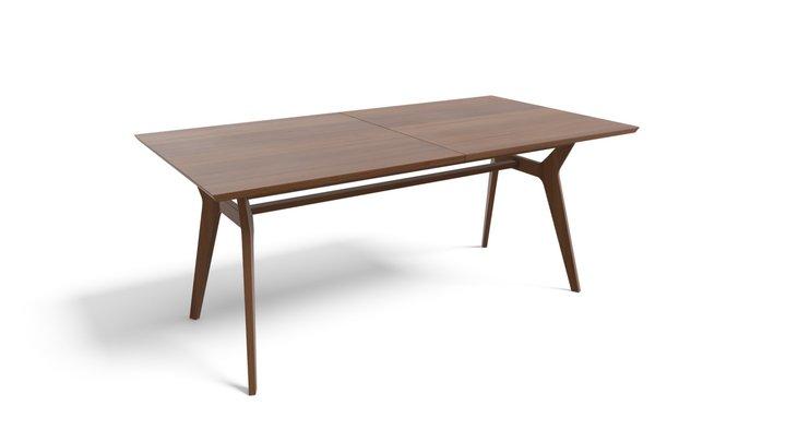 Jenson Extending Dining Table, Dark Stain Oak 3D Model