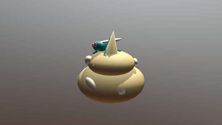 ส้วมก้อนทอง 3D Model
