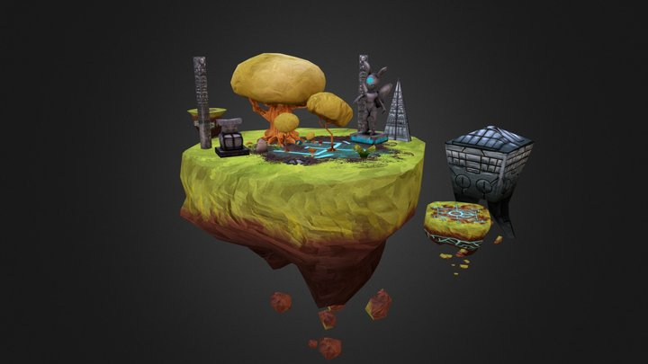 Chac'S Shattered World Props 3D Model