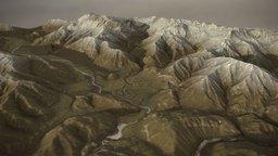 Sketch Background Terrain 3D Model