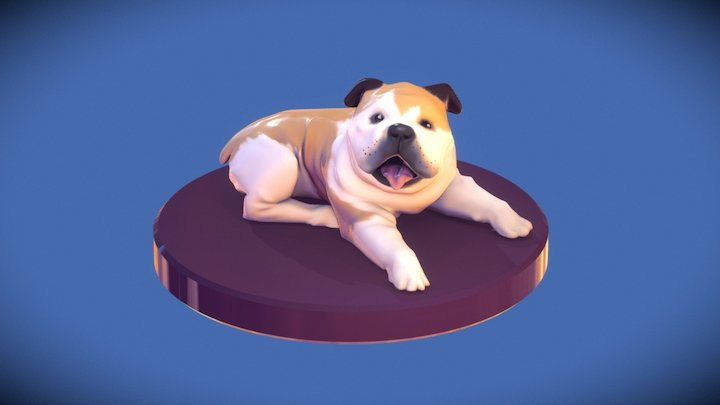 Bulldog figurine sculpt test 3D Model