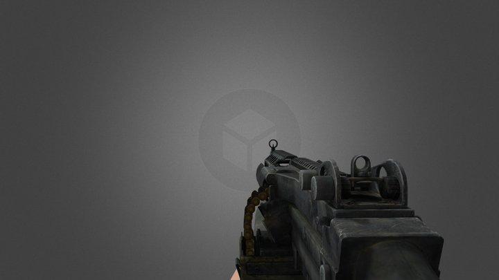 M249 Animated 3D Model