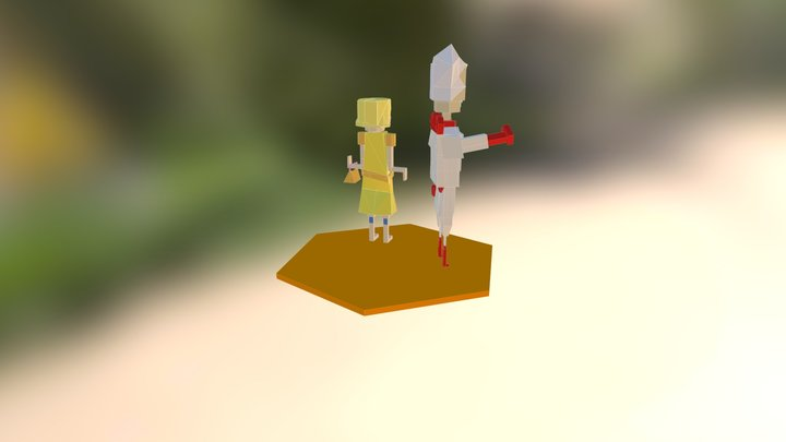 LOW POLY CHARS 3D Model