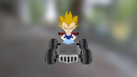 vegeta kart game 3D Model