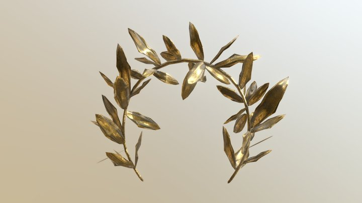Macedonian Gold Olive Wreath 3D Model