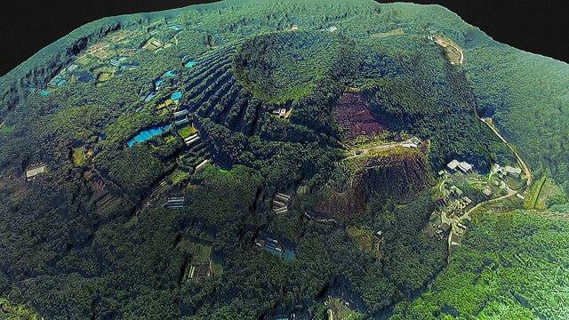 Aogashima caldera 3D Model
