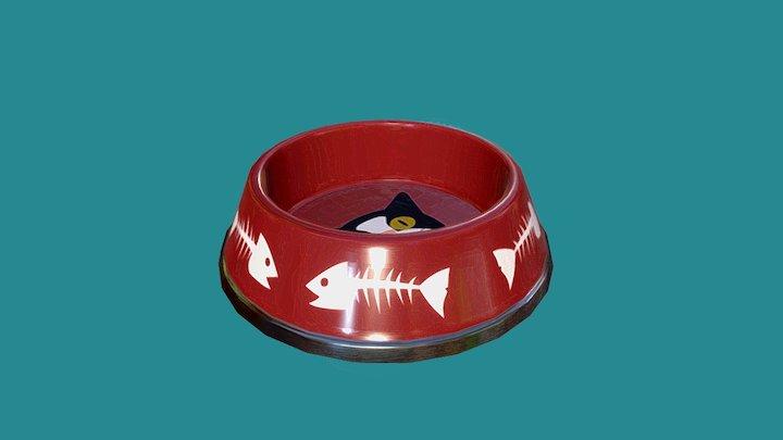 Cat Food Bowl 3D Model