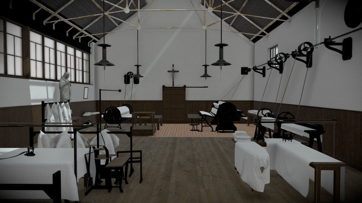 Magdalene Laundry Ironing Room 3D Model