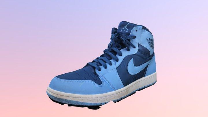 Nike Air Jordan 1 low poly 3D Model