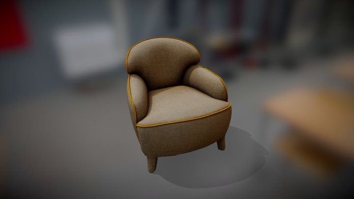 Poltrona Polpetta Estel 3D Model