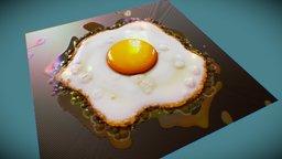 Fried eggs 3D Model