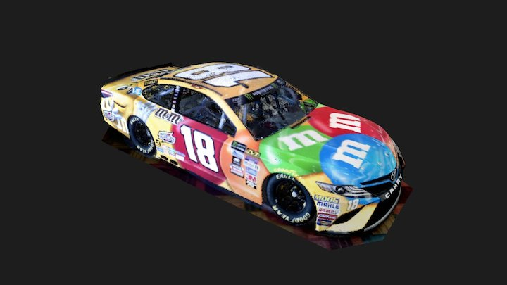 Kyle Busch #18 Toyota Camry (14% decimation) 3D Model
