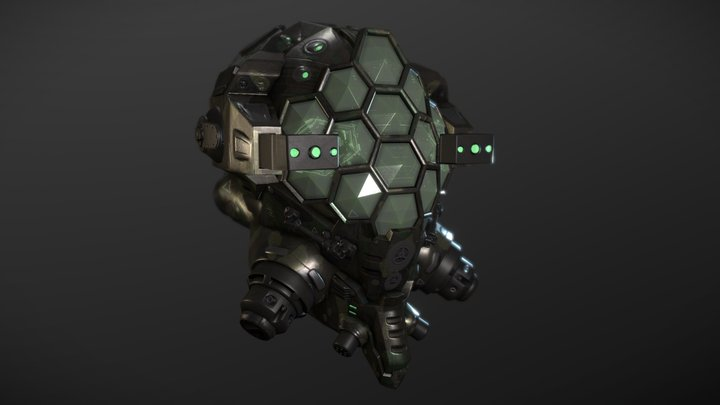 The Hornet (Military Helmet) 3D Model