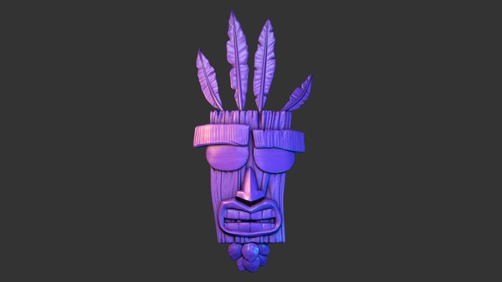 SculptJanuary 2018 Day 2- Mask 3D Model