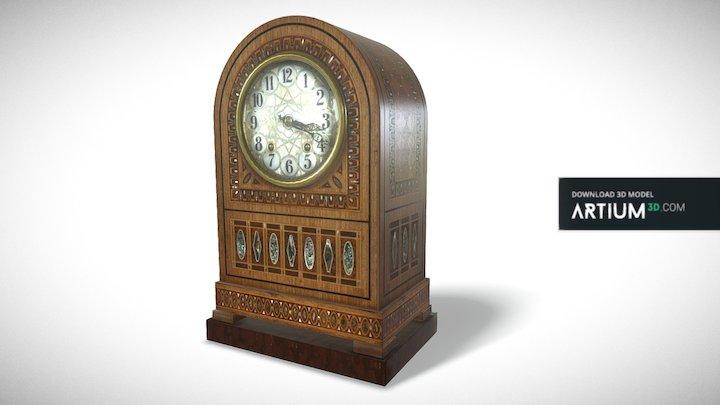 Vienna secession table clock – Austria 1905 3D Model