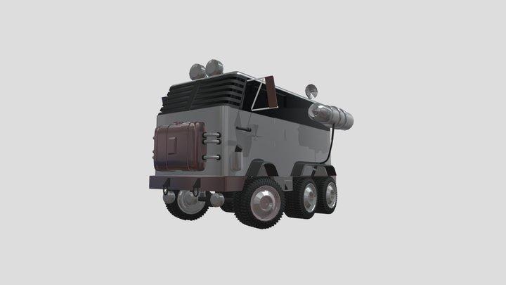 Silver Bus 3D Model