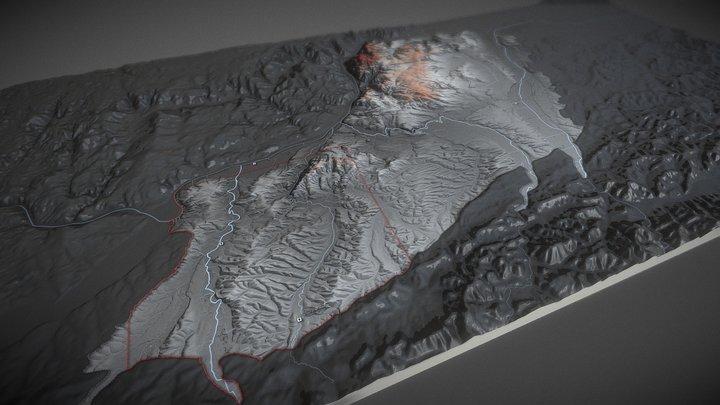 Roman Rural Landscapes in Noricum: AOI 3D Model