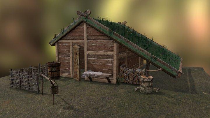 Viking house 3D Model