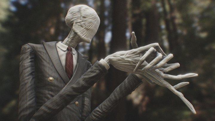 Slender Man for PBR Game Engines 3D Model