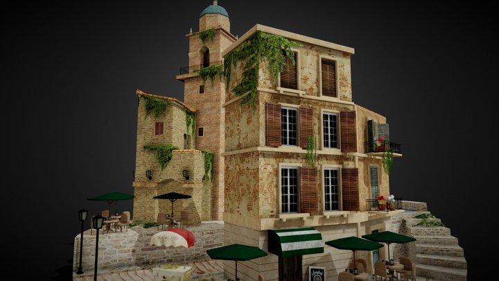 Italy, Cityscene 3D Model