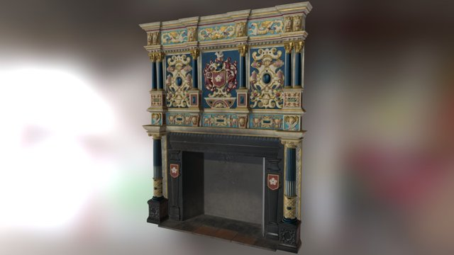 Guildhall Fireplace 3D Model
