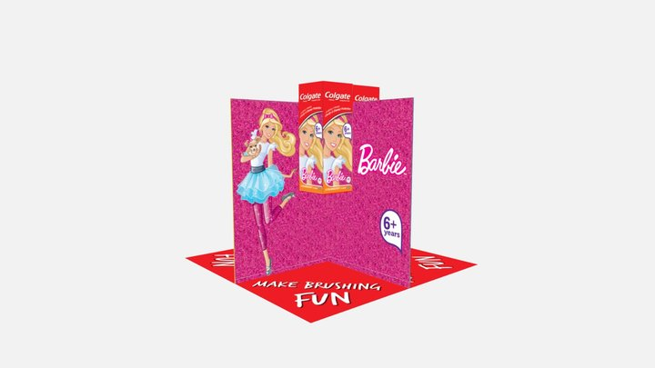 Colgate Tent Card kids Profile 3D Model